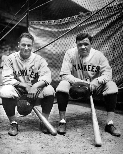 New York Yankees Lou Gehrig and Babe Ruth, 1927 World Series