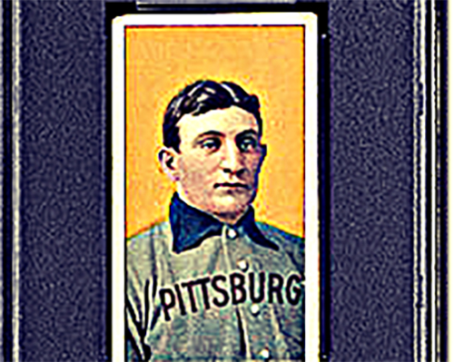 Image of a Honus Wagner card