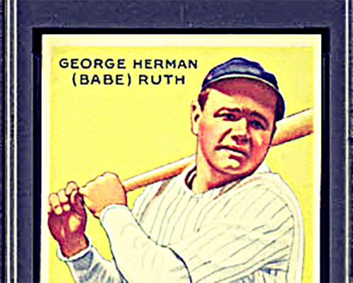 Image of a 1933 Goudey Ruth Card